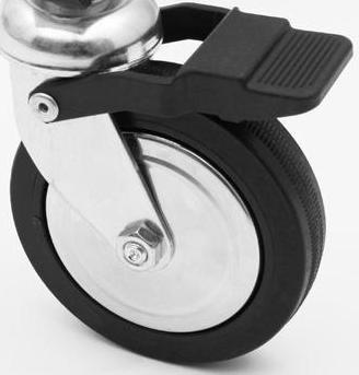 kleiderst nder metall rollgarderobe rollst nder kleiderwagen rollstange ebay. Black Bedroom Furniture Sets. Home Design Ideas